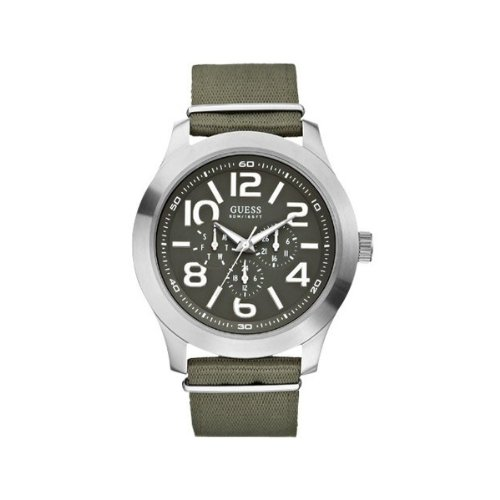 Guess Gents Sports Green Material Strap Watch W10617G1