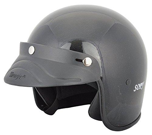 Wrangler Sopy Half Face Helmet (Black, L)