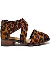 Mata Shoes Sandalias Dorsay con Tacones en Punta de tacón bajo apiladas