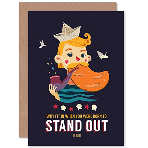 Wee Blue Coo LTD Sailor Boy Stand Out Greetings Card Segeln