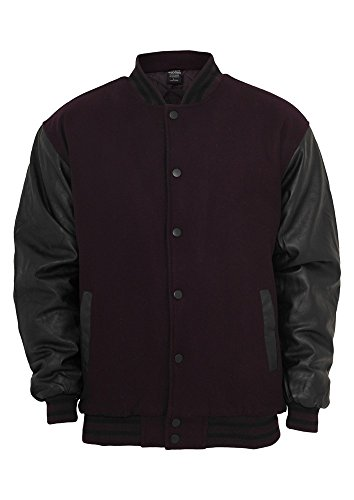 TB103 Half-Leather College Jacket Herren Outdoor Jacke plu/blk