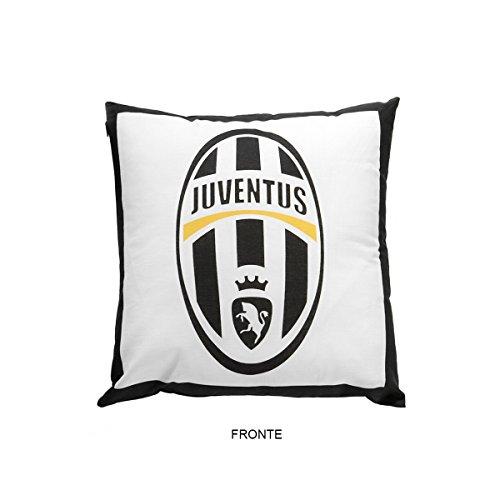 Juventus Cuscino Arredo, Poliestere/Cotone, Bianco