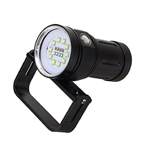 Anglewolf 10x XM-L2+4x R+4x B 12000LM LED Flashlight Torch For Scuba Diving Photography Video