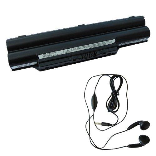 Preisvergleich Produktbild amsahr 580-03 Ersatz Batterie für Fujitsu Lifebook T580, S8250, MG/G75, MG50S, MG50SN, MG50T - Umfassen Stereo Ohrhörer schwarz