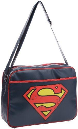 Logoshirt Superman-Logo, Umhängetasche Unisex für Erwachsene, Blau - Blau - Marineblau - Größe: