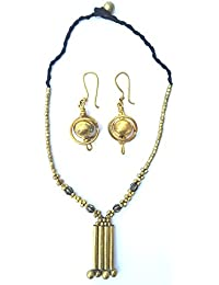 [Sponsored]Chezel™ Tribal Jewellery Set For Women And Girls Tribal Jewelry Fashion Jewellery Party Wear With Necklace And...