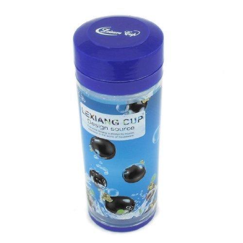 DealMux Plastic cilinder vorm Globe Liquid Pressure Water Bottle 450ml Blue -