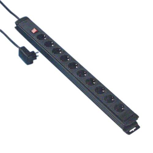 REV Ritter 0512524555 Steckdosen Leiste 10-fach mit Stecker ÜSS KS, 2 m, anthrazit