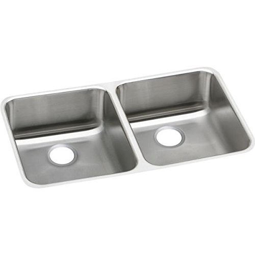 Elkao|#Elkay ELUH311810L 18 Gauge Stainless Steel 30.75 Inch x 18.5 Inch x 10 Inch Double Bowl Undermount Kitchen Sink, by Elkay (Elkay Undermount Kitchen Sink)