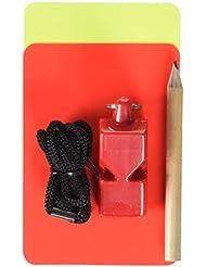 Softee 0004013, Set Arbitro Sencillo, Multicolor (Red/Yellow/Black)