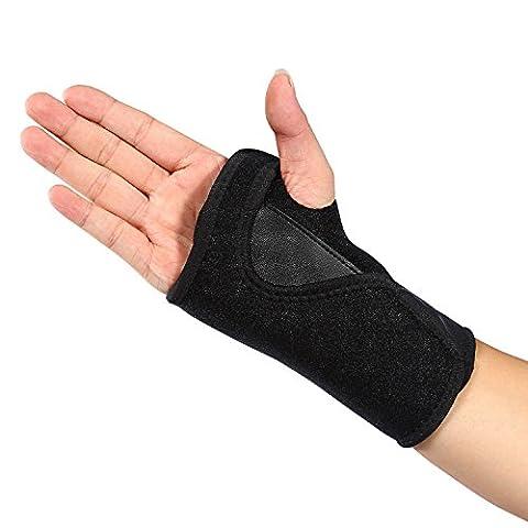 Doact Orthosis Handgelenk Brace/Splint für Handgelenkbandage, für Schmerzlinderung von Carpal Tunnel-Syndrom, Arthritis, spregen und Belastungen für Frauen und Männer (Single size) (rechte Hand)