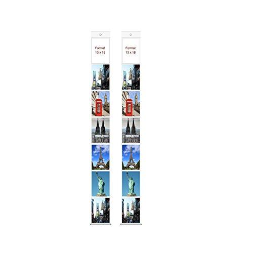 2 Fototaschen 13 x 18 cm für je 7 Fotos Hochformat Deko Foto Bilder Karten Halter Fotowand Fotovorhang Fotohalter Kartenhalter