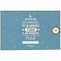 Mr. Wonderful Día Tan Especial, Te Lo Mereces Todo y Un Poquito Más Álbum de Fotos, Papel, Multicolor, 23 x 15 x 3,5 cm