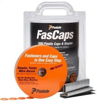 Paslode 650592 FasCaps 18 Gauge Plastic Caps and Staples, 1680 Count by Paslode - Paslode Cap