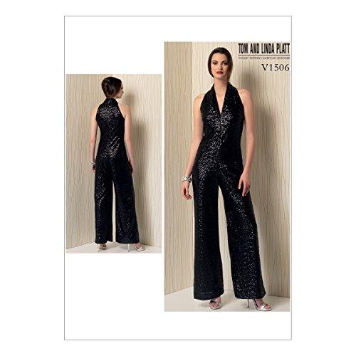 Vogue American Designer-muster (Vogue Mustern 1506ZZ Schnittmuster Jumpsuit, Größe L/XXL)