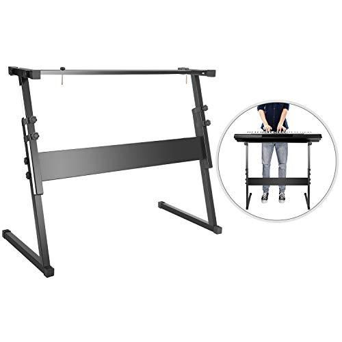 Neewer Z-Design Piano-Keyboardständer Hochleistungen Notenständer für Kinder und Erwachsene, höhenverstellbar 54,5-84,5 cm (Schwarz)