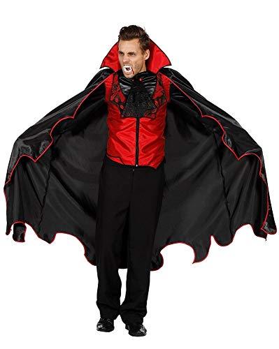 Fürsten Kostüm - shoperama Vampir Herren-Kostüm Weste Hemd Umhang Fürst der Finsternis GRAF Dracula Karneval Fasching Karnevalskostüm Halloween, Größe:52