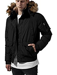 Urban Classics Hooded Heavy Bomber Jacket, Blouson Homme
