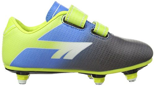 Hi-Tec Sports Unisex-Kinder, Sonic Pro JR Fußballschuh SI EZ Schwarz/Blau/Limette