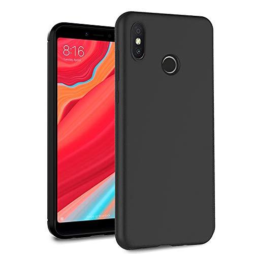 Ferilinso für Xiaomi Redmi S2 Hülle, Leicht Flexible Hybrid Defender Shockproof Schutzhülle Carbon Fiber Design Cover für Xiaomi Redmi S2 (Schwarz)