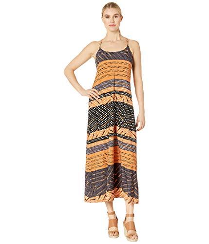 Brown Spaghetti Strap (Donna Morgan Damen Spaghetti Strap Striped Maxi Dress Kleid, Terracotta/Brown Multi, 44)