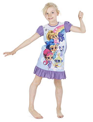 Disney Princess & Tv Character Mädchen Nachthemd Mit König Der Löwen, Aladdin, Cinderella, Paw Patrol, Little Mermaid   Kindernachtwäsche Mit Prinzessinnen (5/6 Jahre, Shimmer und Shine) (Frozen Jungen Kostüm)