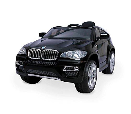 LT 847 Coche eléctrico para niños BMW X6 monoplaza 12V con control remoto - Negro