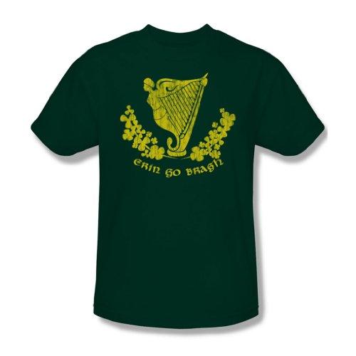 Erin Go Bragh - Adult Grün Ringer Kurzarm T-Shirt für Männer, X-Large, Green (Green Ringer T-shirt Go)