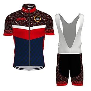 41XeqC6jF2L. SS300 Hengxin Body Tuta Ciclismo Completo Bici Uomo Estivo con Maglia e Pantaloncini Corti Imbottiti