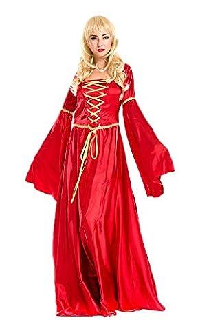 lifewheel Halloween Rouge Rétro Cour robe Masquerade Costumes Jeu Reine Vêtements