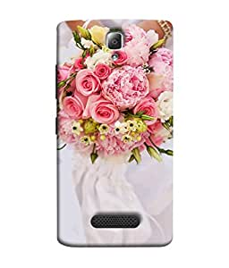 Fuson Designer Back Case Cover for Lenovo A2010 (Red rose Gulaab Flower Garden Love)
