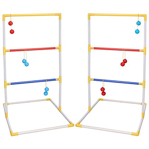 Arshiner Ladder Toss Game Set with 6 Rubber Bolos Indoor / Outdoor Game Sports