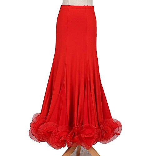 Wanson Wettbewerb Kleider Standardtanz Kleid Milch-Seide Tüll Tanzbekleidung Damen Performance Unter Röcke - Milch Seide
