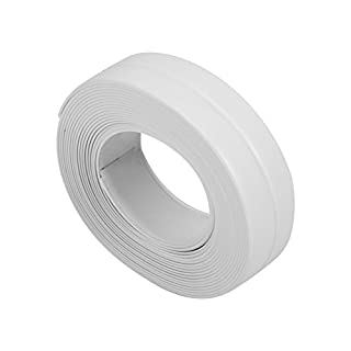 3.2M Length Wall Caulk Strip Self Adhesive Tub Bath And Wall Sealing Strip Sink Basin Edge Trim Kitchen(22mm*3.2M-White)