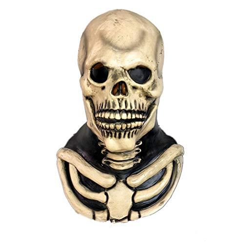 Kostüm Verkauf Beängstigend Zum - DYHOZZ Halloween Schädel Köpfe Maske, Horror Overhead Clown Maske, Halloween Kostüm Party gruselig beängstigend Dekoration Requisiten
