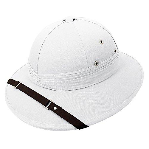 Französischer Tropenhelm - Weiß - (Kolonial Hüte)