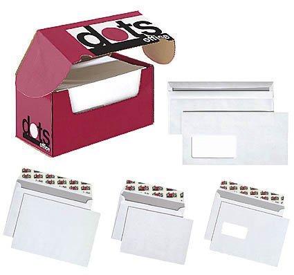 250 dots Briefumschläge DIN C5 mit Fenster, mit Haftverschluss (Lange Dot)