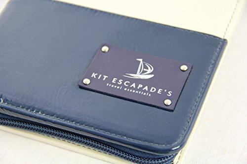 Kit Escapades - Portatrajes de viaje unisex adulto Varios colores azul marino/crema Clutch Bag