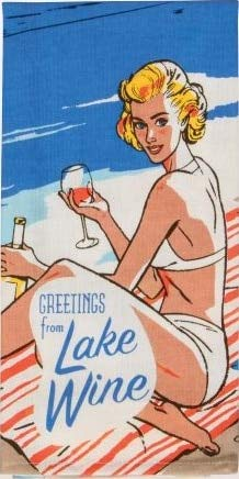 Blue Q Geschirrtuch Greetings from lake wine - dish towel