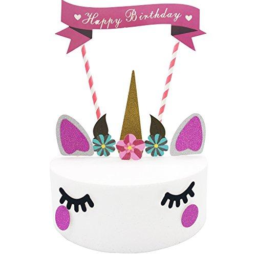 (Ainxin Kuchenaufleger, verschiedene Dekomotive, 10er-Set Unicorn Cake Topper)