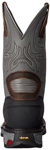 Justin Boots Commander X5 Cuir Chaussure de Travail Gunmetal Gray