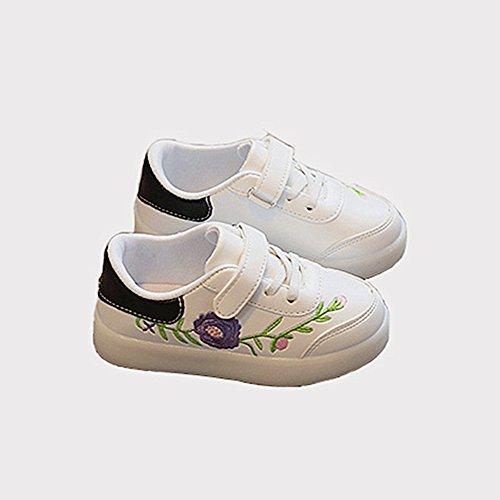 Enfant LED Chaussures,Chickwin Enfants LED Chaussures Lumineuse À Roulettes Garçons Filles Sneakers Clignotant LED Chaussures (Noir, (Costume En Homme Noir Blanc)