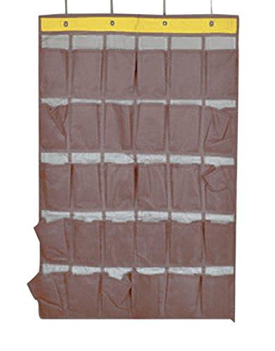 be 30 Taschen Hängeorganizer Aufbewahrungstasche Hängetasche Hängeregal Handytasche für Tür Wand Klassenzimmer Wohnheim (Kaffee) (Klassenzimmer-helfer)