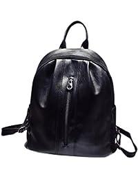 mochilas mujer casual, Sannysis mochilas escolares mochilas mujer universidad pequeñas portatil mochilas niña cremallera bolso mochilas mujer bolsos mujer bandolera Travel Rucksack Backpack (Negro)