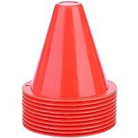 Alomejor Conos de tráfico de Entrenamiento 10 Conos de Agilidad de fútbol para Entrenamiento de fútbol(Rojo)