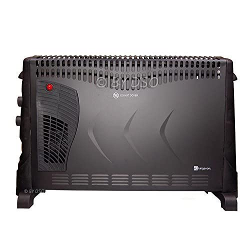 41XexpQqvlL. SS500  - Kingavon 2kW Convector Heater with 3 Heat Settings and 24Hr Timer In Lovely Black Finish HAMBB-CH506