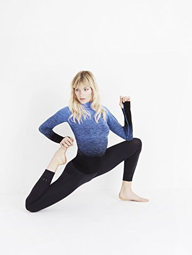 Pepper and Mayne Damen Compression Hoodie Fra Angelico Blue