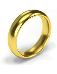 18ct Yellow Gold Wedding Ring - Premium Quality Court 5mm Band - Handmade in the UK - For Men and Women - UK Specialist In Wedding Rings and Bands