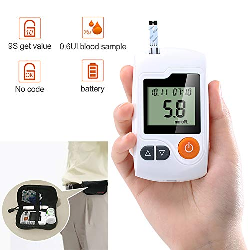 SUN RDPP Blutzuckermessgerät Diabetes-Test-Kit, Haushaltsdetektor, Standalone