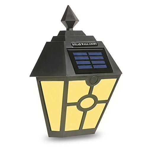 Lixada Retro Resistente Al Agua Sensor LED Lámpara de Pared Solar Alimentado Noche Luz Inducción para Patio Jardín